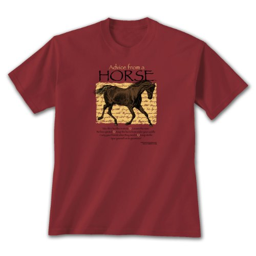Advice From A Horse ~ Cardinal Red T-Shirt