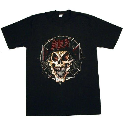 SLAYER スレイヤー プリント ロックTシャツ バンドTシャツ ブラック Mサイズ