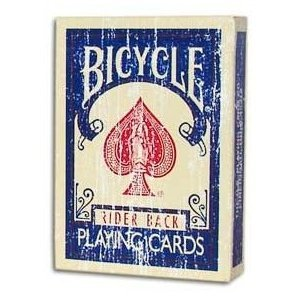 Magic Makers Faded Rider Back Blue Bicycle Deck- Limited Quantities