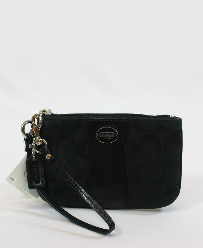 Coach   Coach Legacy Signature Black Small Wristlet Change Purse