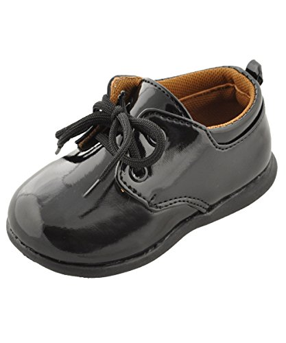 Tendertoes Patent Leather Oxford Dress Shoes - Black, 5 Infant front-20190