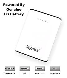 XYNUS RM-10400 mAh Power Bank With Genuine LG Cells (White - Black)