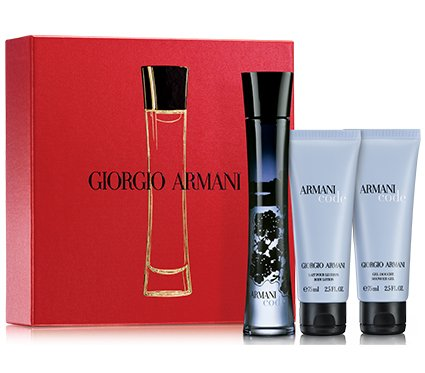 Armani Code for Men 3 Pc. Gift Set (Eau De Toilette Spray Oz Deo Stick Oz After Shave Balm Oz) by Giorgio Armani. Armani Code is an oriental, masculine fragrance first presented in This contains citrus accords, floral nuances, fruity notes and woody aromas all adroitly mixed together to give an attractive and powerful fragrance, mesmerizing the congregation to smell it.