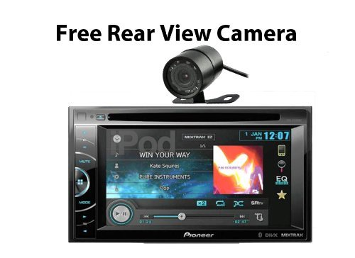 Pioneer Avh-X2600Bt 2-Din Multimedia Dvd Receiver With 6.1 Inch Wvga Touch Screen Display (Free Rear View Camera)
