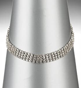 Multi-Strand Diamanté Chain Necklace