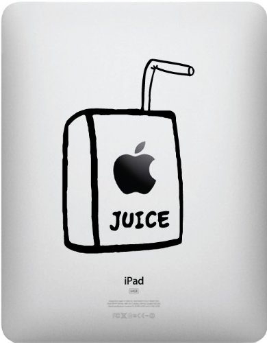 Apple Juice Box for iPad Original and iPad 2 - Vinyl Decal