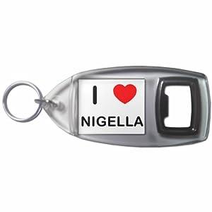 I Love Nigella - Botella plástica del anillo dominante del abrelatas
