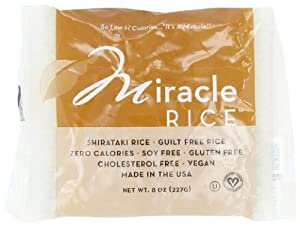 Miracle Noodle Shirataki Rice, 8-Ounce (Pack of 6)