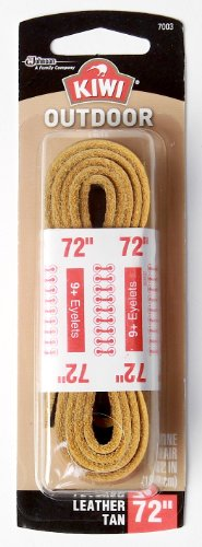 Sara Lee 72-Inch Leather Shoe Lace, Tan
