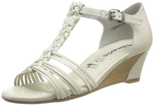 Tamaris Women's 1-1-28330-22 109 Fashion Sandals White Blanc (Offwhite) 36