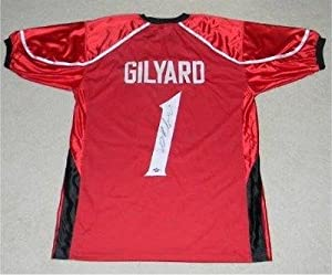 Mardy Gilyard Signed Jersey - Red #1 Coa - Autographed College Jerseys