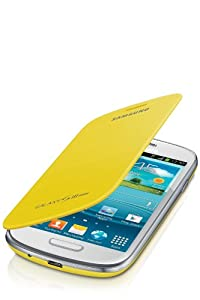Samsung Original schützende Display-Klappe / Flip-Cover EFC-1M7FYEGSTD (kompatibel mit Galaxy S3 mini) in yellow