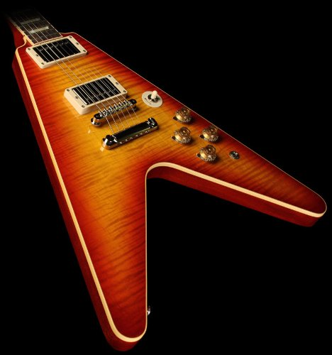 Gibson Custom Benchmark Limited Figured Flying V Electric Guitar Washed Cherry