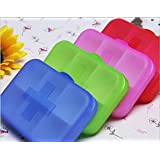 Kathy Mall 1pc Travel Portable 6 Grid a Variety of Colors Plastic Storage Box Small Kit Medicine Drug Pill Case
