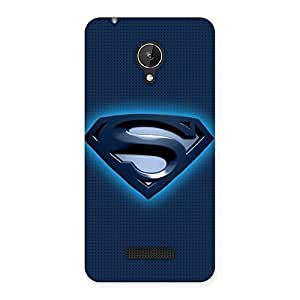 Enticing uper Blue Back Case Cover for Micromax Canvas Spark Q380