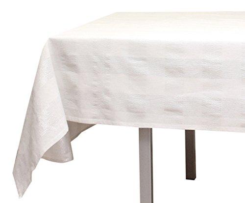 Tischdecke quadratisch Baumwolle LYAM weiß