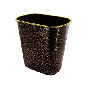 decorative gold trim trash container