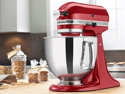 KitchenAid RRK150CA Artisan Series Stand Mixer, 5 quart, Candy Apple Red (Certified Refurbished)