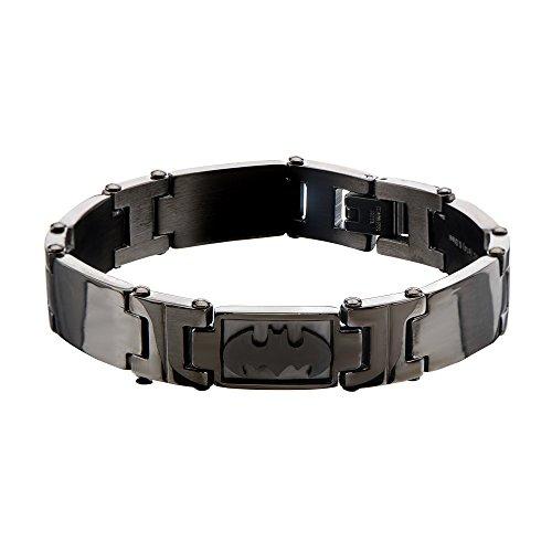 DC Comics Batman Logo Stainless Steel Braccialetto