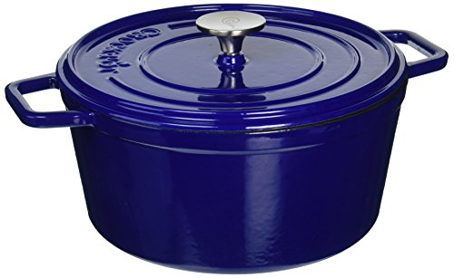 Crock-Pot Elmington Cast Iron Dutch Oven, 5 quart, Gradient Blue (Cast Iron Small Dutch Oven compare prices)
