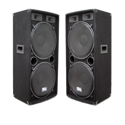 "Seismic Audio - Pair of Dual 15"" PA DJ SPEAKERS 1000 Watts PRO AUDIO - Band, Bar, Wedding, Church from Seismic Audio"