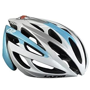 LAZER UNISEX O2 RACE ONE SIZE 53-61C WHITE/ICE BLUE CYCLING HELMET BLC0380200T0U