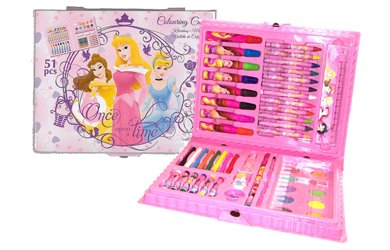 Disney Princess 51 Piece Deluxe Colouring Case