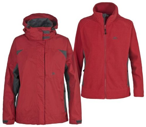 Trespass Women's Compete Jacket - Chilli Red, XX-Large