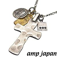 amp japan/アンプジャパン 3AK-102N シルバー クロスネックレス (シルバーチェーン付♪)