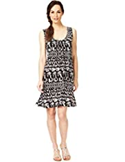 Mono Print Vest Dress