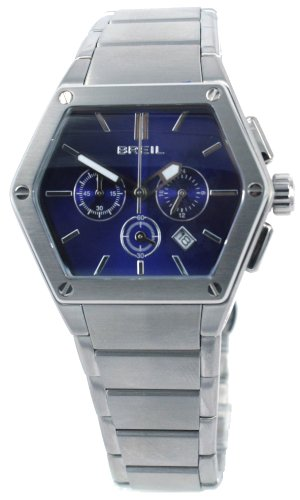 Breil Men's Watch Analogue Quartz TW0658 Silver Stainless Steel Strap Blue Dial