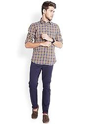Parx Dark Blue Men Shirt 8907249763463_XMSA04760-B6_Dark Blue_42