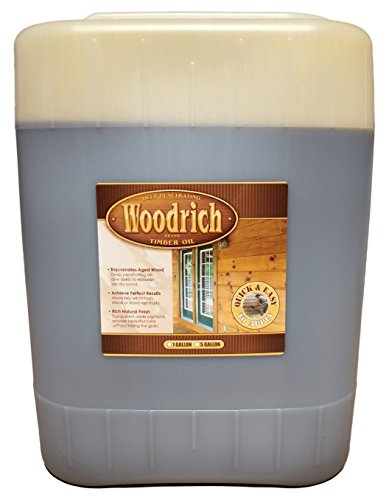 Timber Oil Deep Penetrating Stain for Wood Decks, Wood Fences, Wood Siding, and Log Cabins - 5 Gallon - Woodrich Brand - Covers up to 750 Square Feet - 100% Guaranteed - Easy to Use (Brown Sugar) (Dark Brown Spray Paint Gloss compare prices)