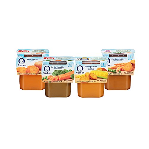 Gerber 2nd Foods Variety Pack, Veggies, 4 Ounce Tubs, 2 Count (Pack of 16)