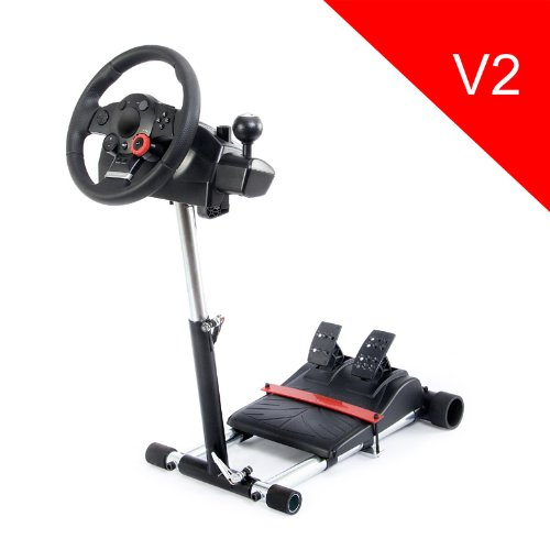 V2 Racing Steering Wheelstand For Logitech Driving Force Pro, Gt, Ex And Drivefx Wheels; Wheel Stand Pro. Wheel/Pedals Not Included. front-303669