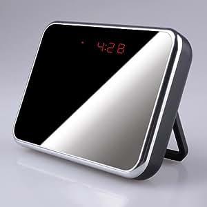 Noir effet miroir Reveil Camera Espion Detecteur Mouvement Montre Horloge Photo