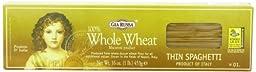 Gia Russa Whole Wheat Thin Spaghetti, 16-Ounces (Pack of 5)