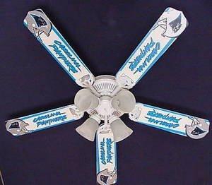 Ceiling Fan Designers 52Fan-Nfl-Car Nfl Carolina Panthers Football Ceiling Fan 52 In.