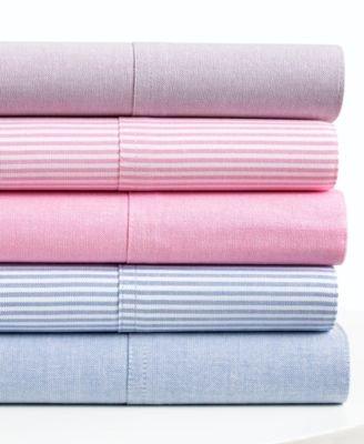Lauren Ralph Lauren University Oxford Standard Pillowcases (set of two) Pink/White