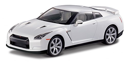 MJX 1:14 Nissan GT-R R35 - White with Head and Tail Lights and Tri-Band Remote (Rc Nissan Gtr compare prices)