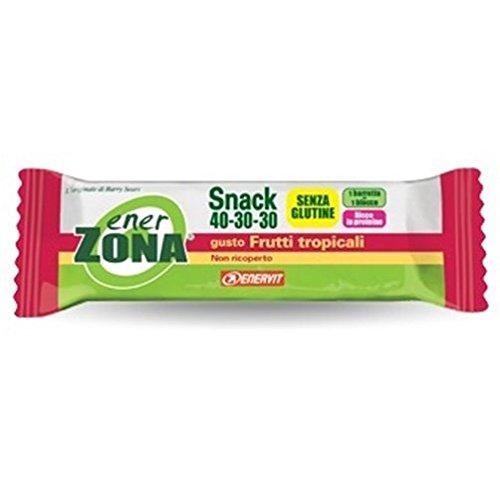 EnerZona Snack 40-30-30 Frutti Tropicali Non Ricoperta 1 Barretta 23 gr