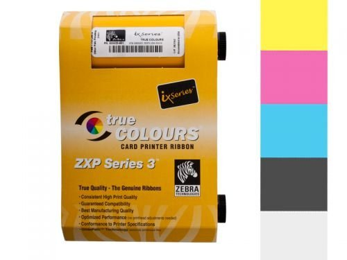 Zebra True Colours ix Series color ribbon for ZXP Series 3 YMCKO 800033-840 (Zebra Zxp 3 compare prices)