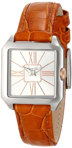 Kenneth Cole New York Square with Orange Croco-Embossed Strap Women's watch #KC2847