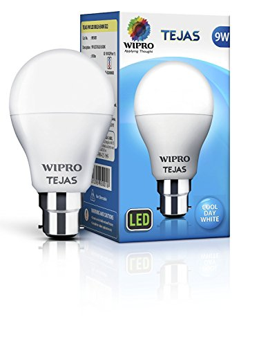 Wipro-Tejas-9W-B22-LED-Bulb-(White,-Pack-Of-5)