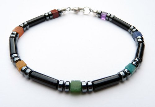 Damali - MB01 Men's Chakra Bracelets: Gemstone Balancing Healing Metaphysical Spiritual Jewelry - Medium 8 Inches