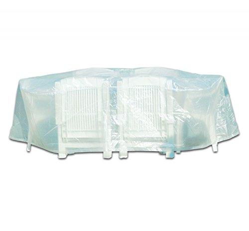 Schutzhülle für Garten Sitzgruppe Gartenmöbel transparent D= 200cm günstig kaufen