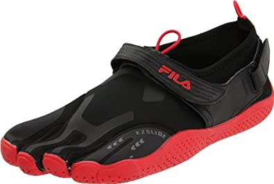 Fila Men's Skele-Toes EZ Slide Shoe,Black/Chinese Red,9 M US