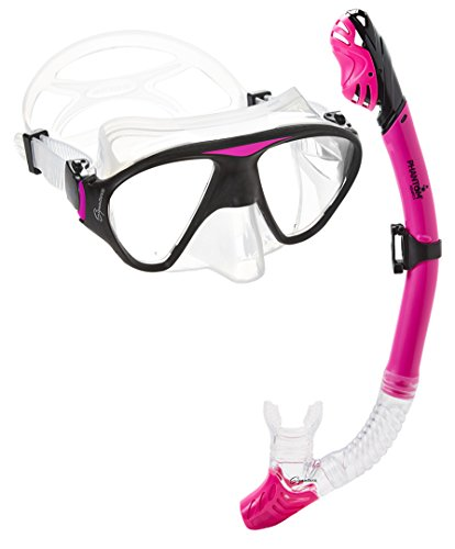 Phantom Aquatics Signature Mask Dry Snorkel Set, Pink