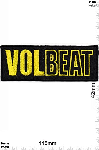 Patch - VOLBEAT - gold - MusicPatch - Rock - Chaleco - toppa - applicazione - Ricamato termo-adesivo - Give Away