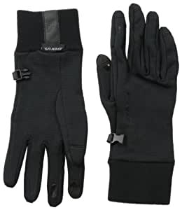 Seirus Innovation Soundtouch Powerstretch Gloves, Black, Small/Medium